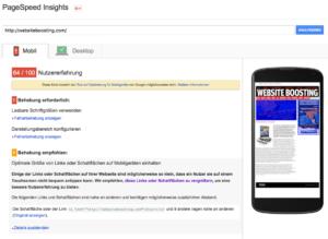 Bild von Pagespeed Insights hebt Links farblich hervor, die zu eng aneinander positioniert sind.