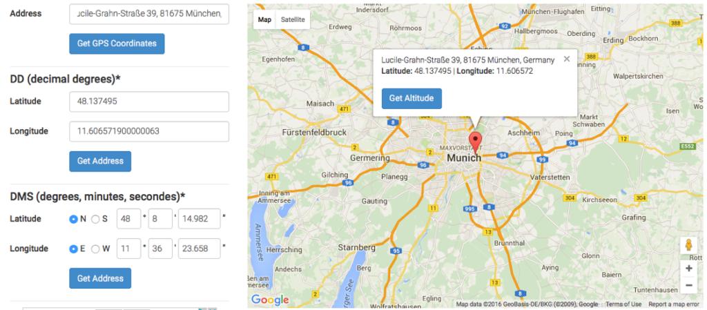 gps-coordinates.net liefert die passenden GEO-Koordinaten zur Google Maps Adresse.