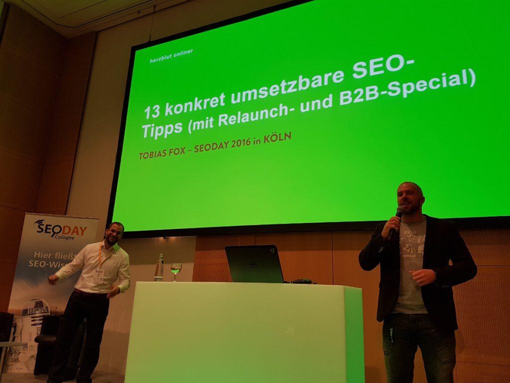 Tobias Fox und Felix Beilharz starten den SEO-DAY 2016