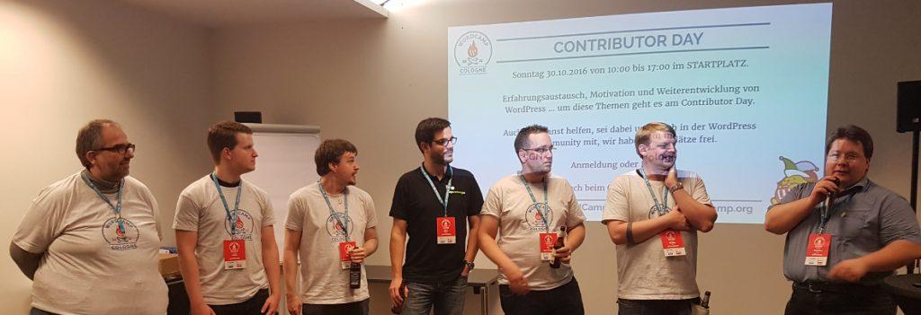 Die Organisatoren des WordCamp Köln 2016