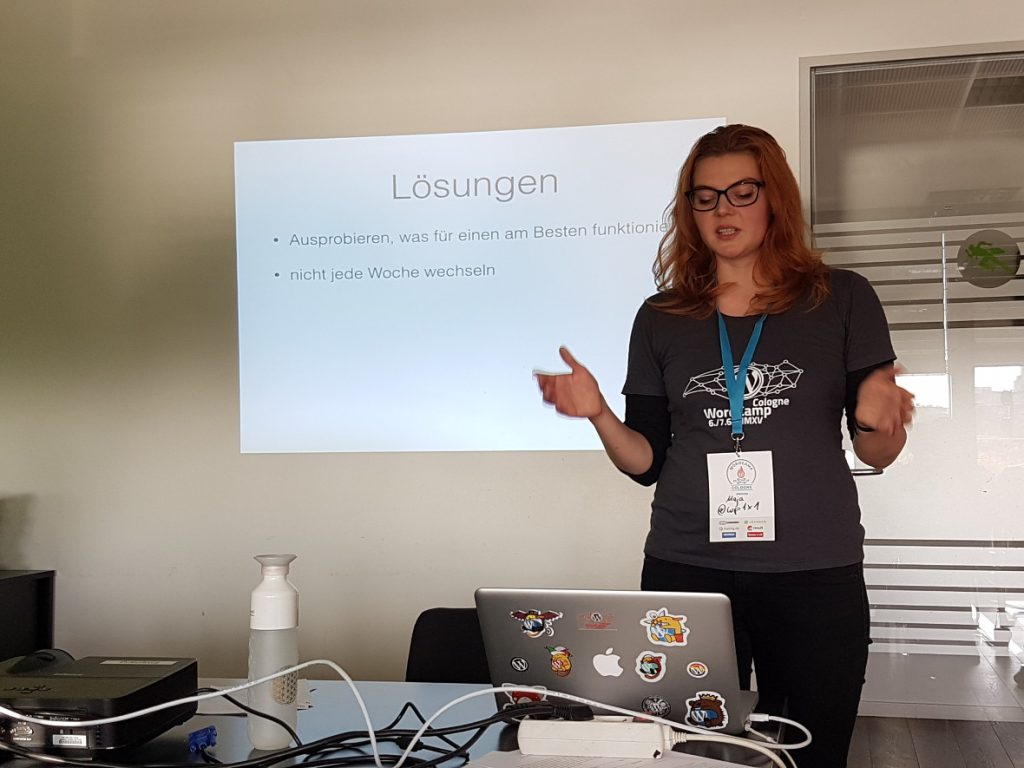 Maja Benke berichtet auf dem WordCamp Köln von ihren Erfahrungen als Digitale Nomadin